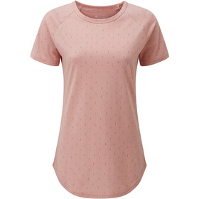 tentree Print Raglan T-Shirt Femme, quartz pink heather/small tree all over print